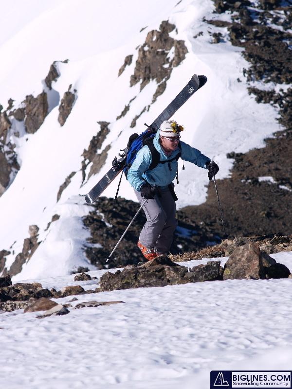 The climb to ski Crystal Mountain