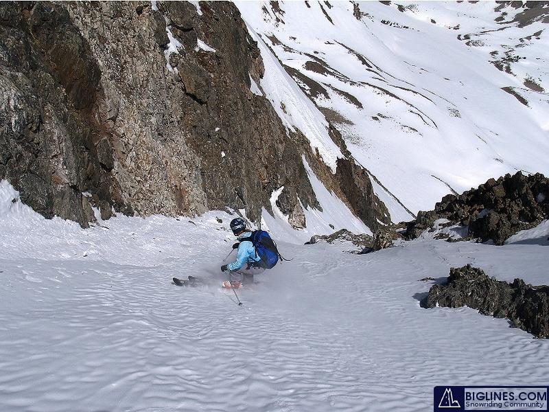Brittany Walker Konsella skiing Crystal Mountain in Summit County. Colorado