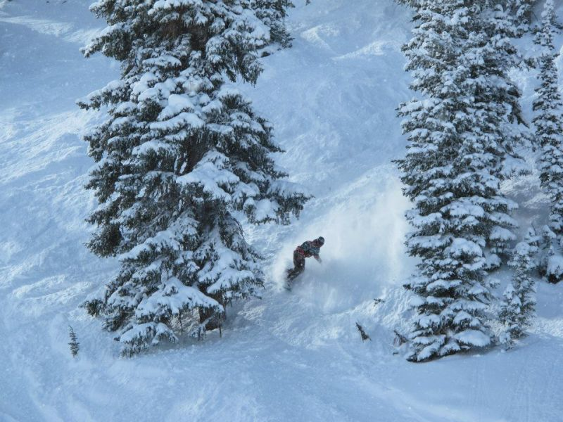 Andy Eflin loves snowboarding in Crested Butte.