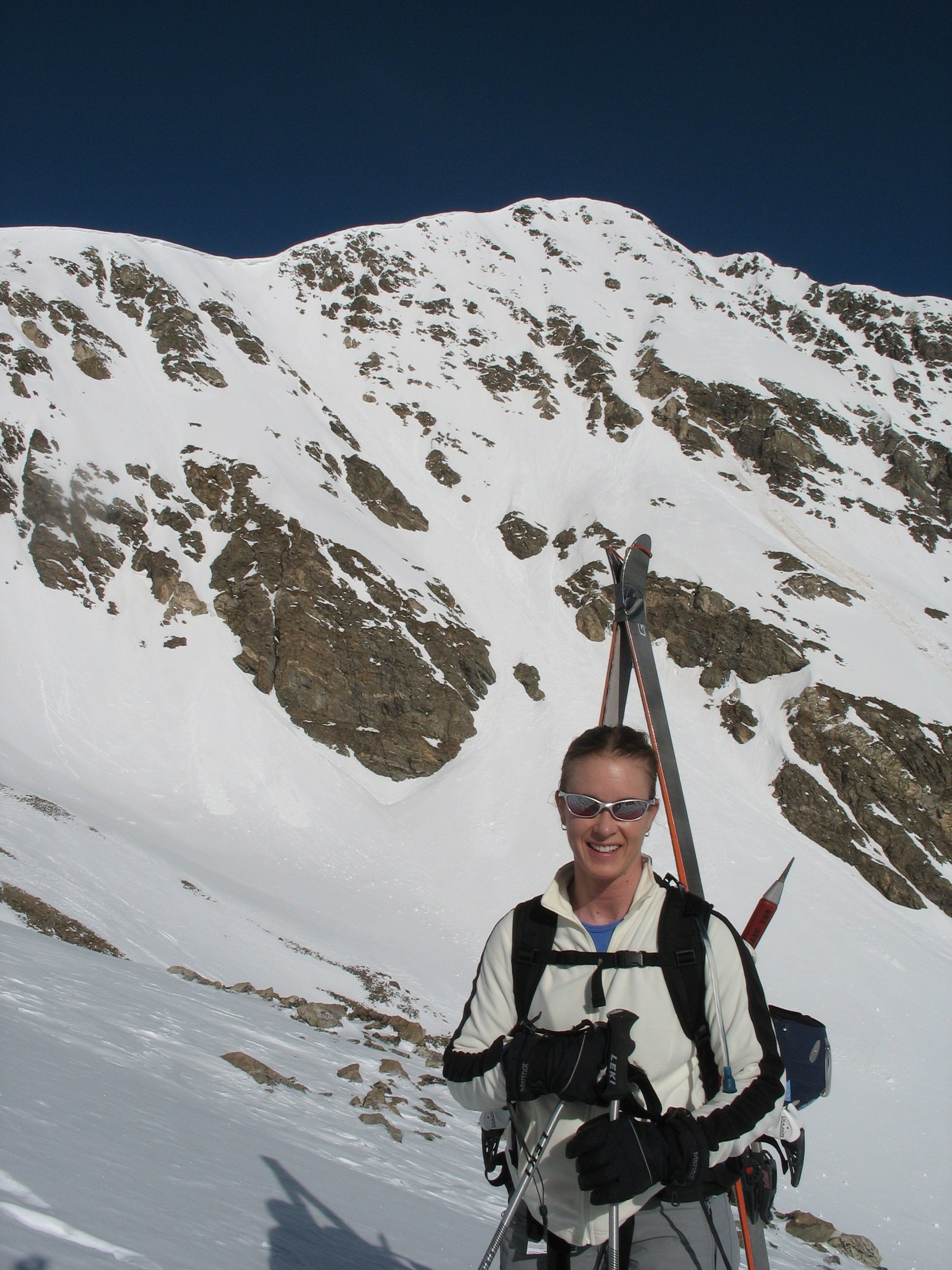 Brittany Walker Konsella with Torreys Peak behind