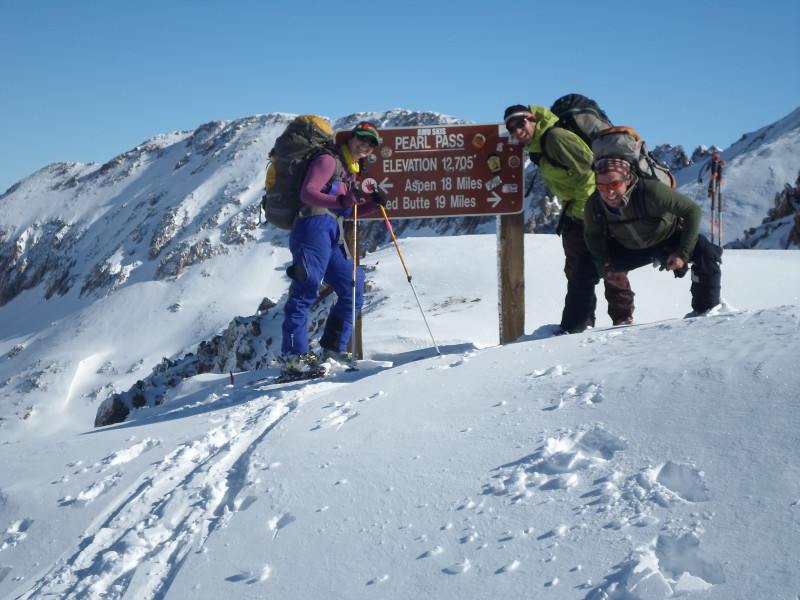 Skiing from Aspen to Crested Butte over Pearl Pass