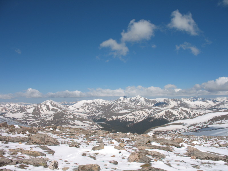 Square Top, Grays, Torreys seen from Mount Evans.