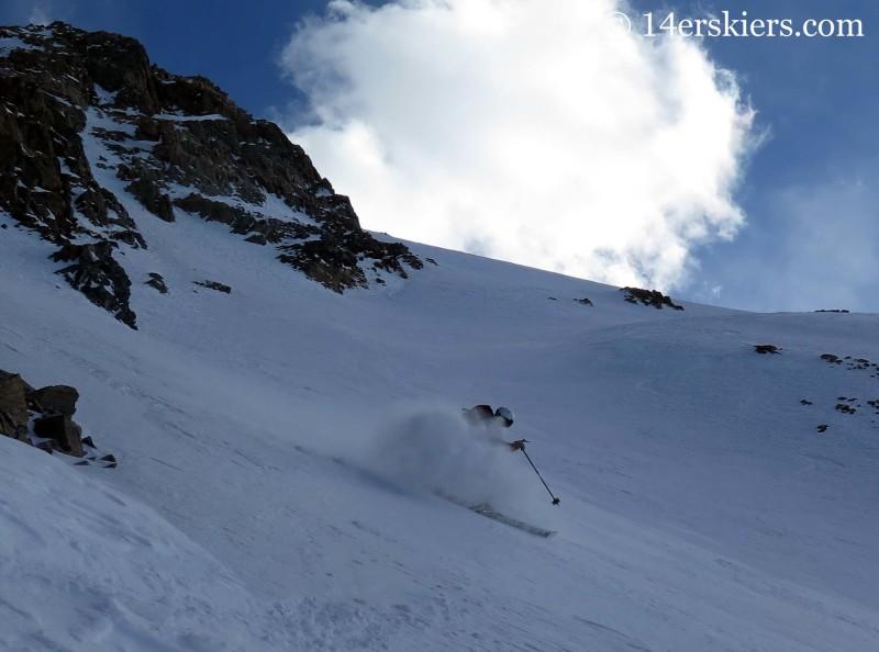 Frank Konsella backcountry skiing on La Plata peak