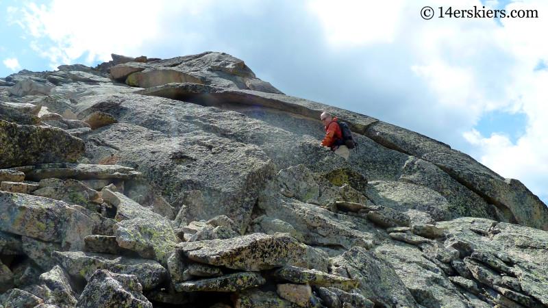 Frank Konsella climbing Guides Ridge