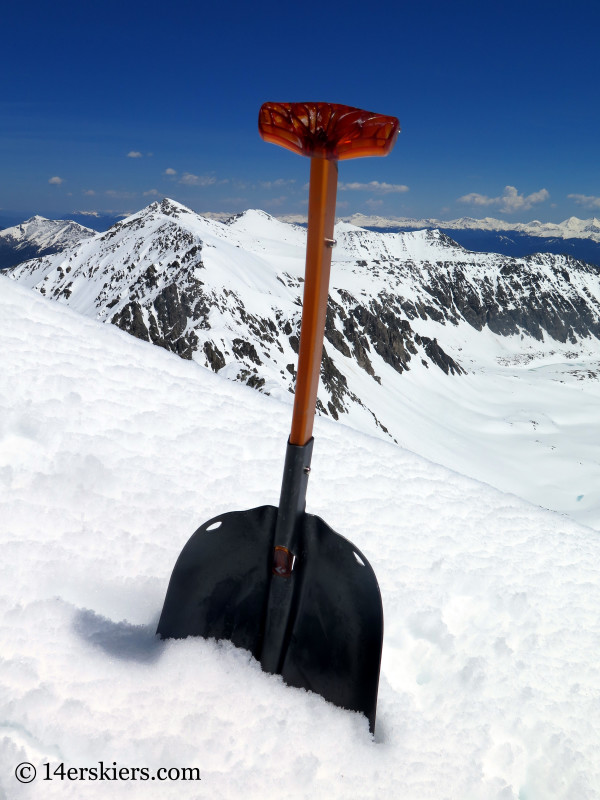 The Black Diamond Deploy 7 avalanche rescue shovel.