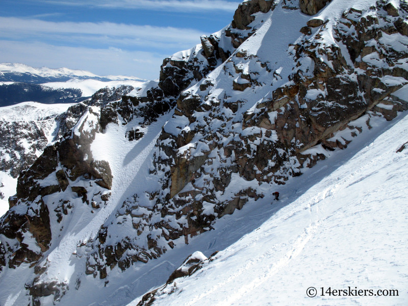 Jeremy Wegener backcountry skiing on Mounto of the Holy Cross