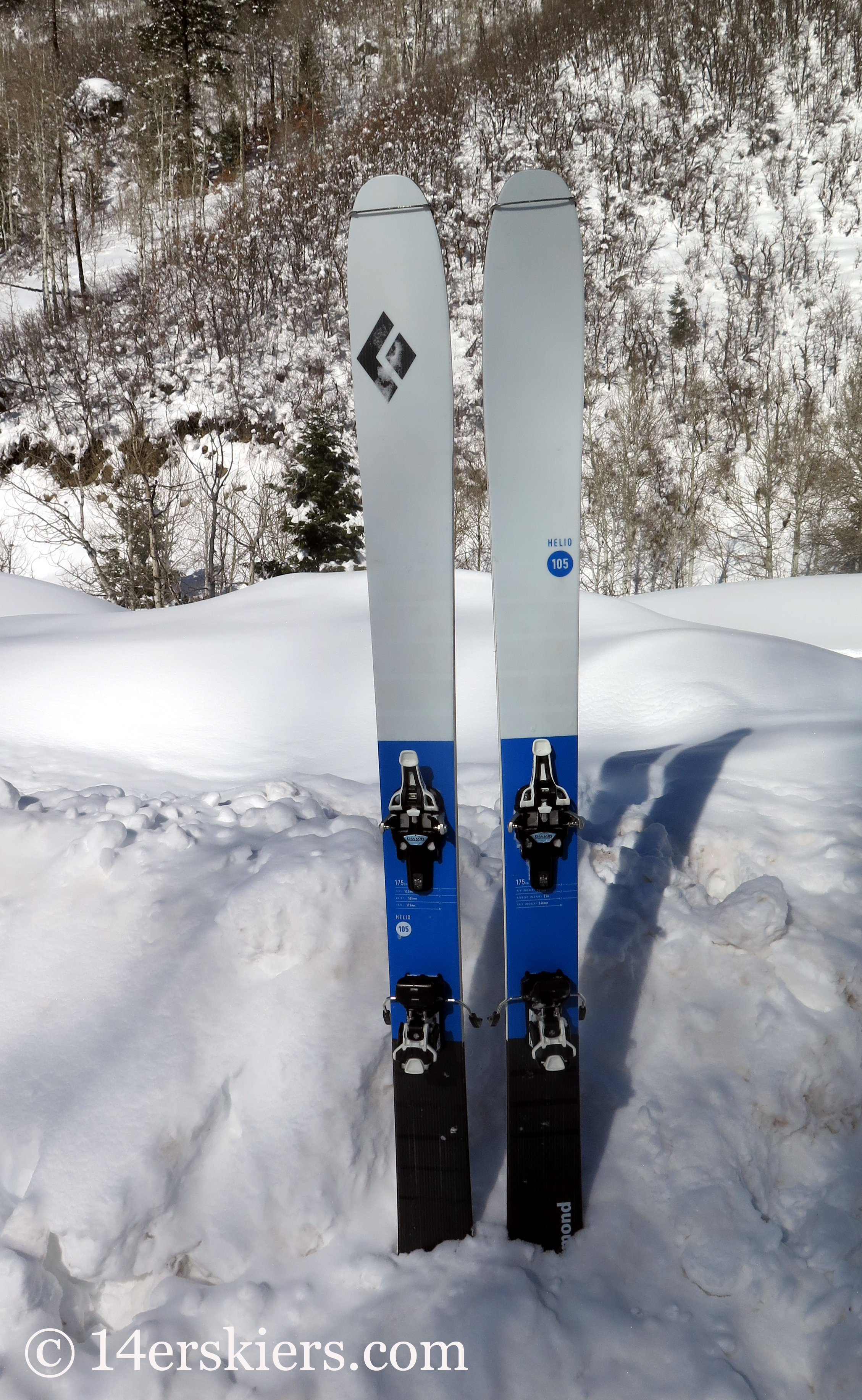 24a1058b5e Gear Review  Black Diamond Helio 105 Skis - 14erskiers.com