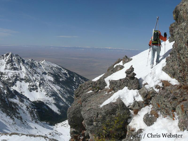 climbing Crestone Needle