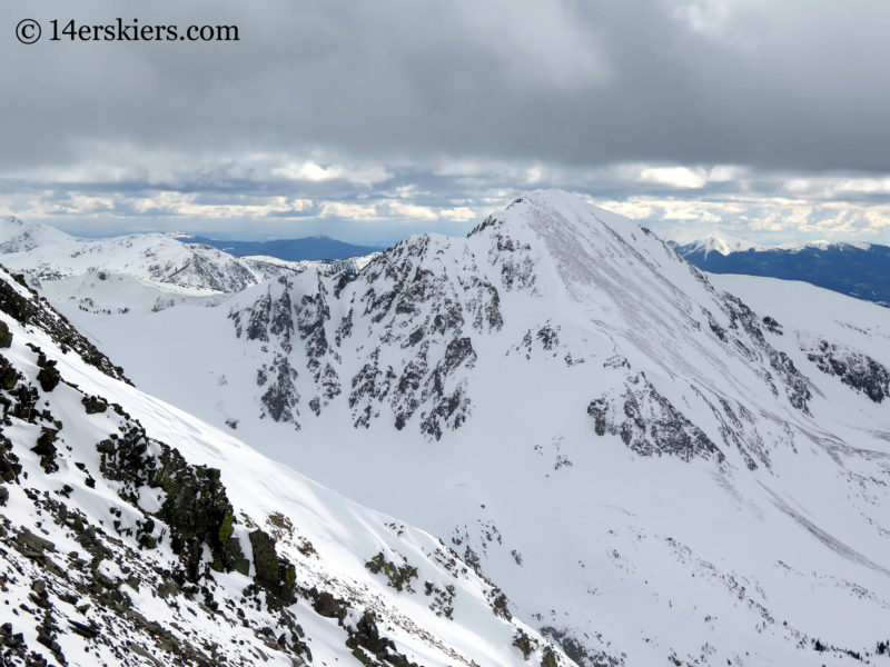 Mount Mahler near Cameron Pass from Nokhu Crags.