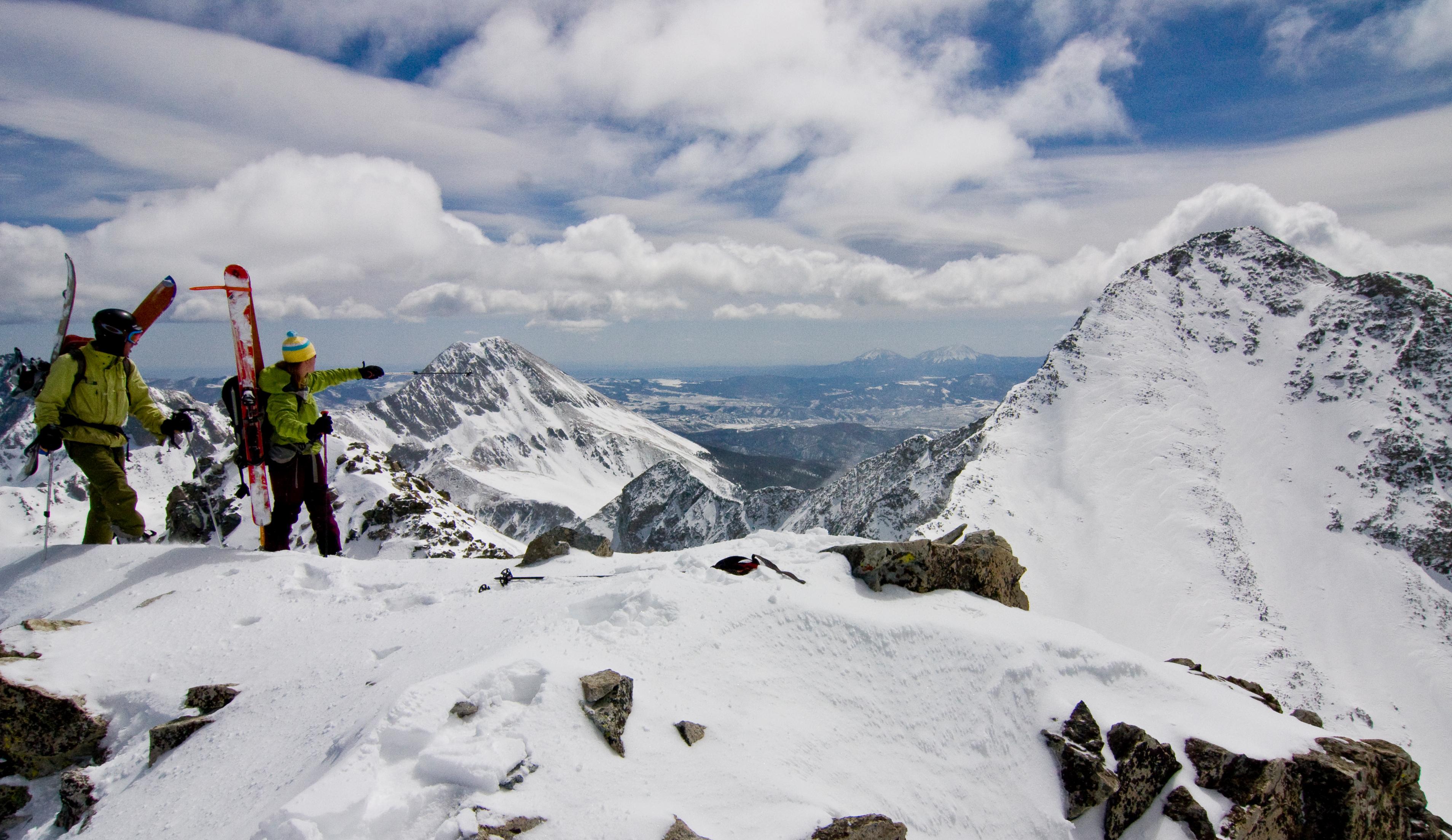 Ellingwood Poing and Blanca Peak Ski