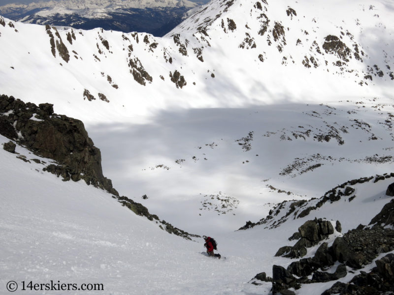 Zach Taylor backcountry splitboarding Pacific Peak