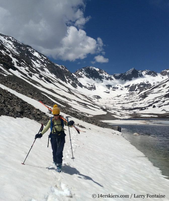 Brittany Konsella backcountry skiing North Star Mountain.