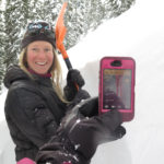 Using the Avanet App while performing an extended column test while backcountry skiing.