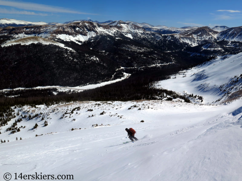 Larry Fontaine backcountry skiing North Diamond Peak.