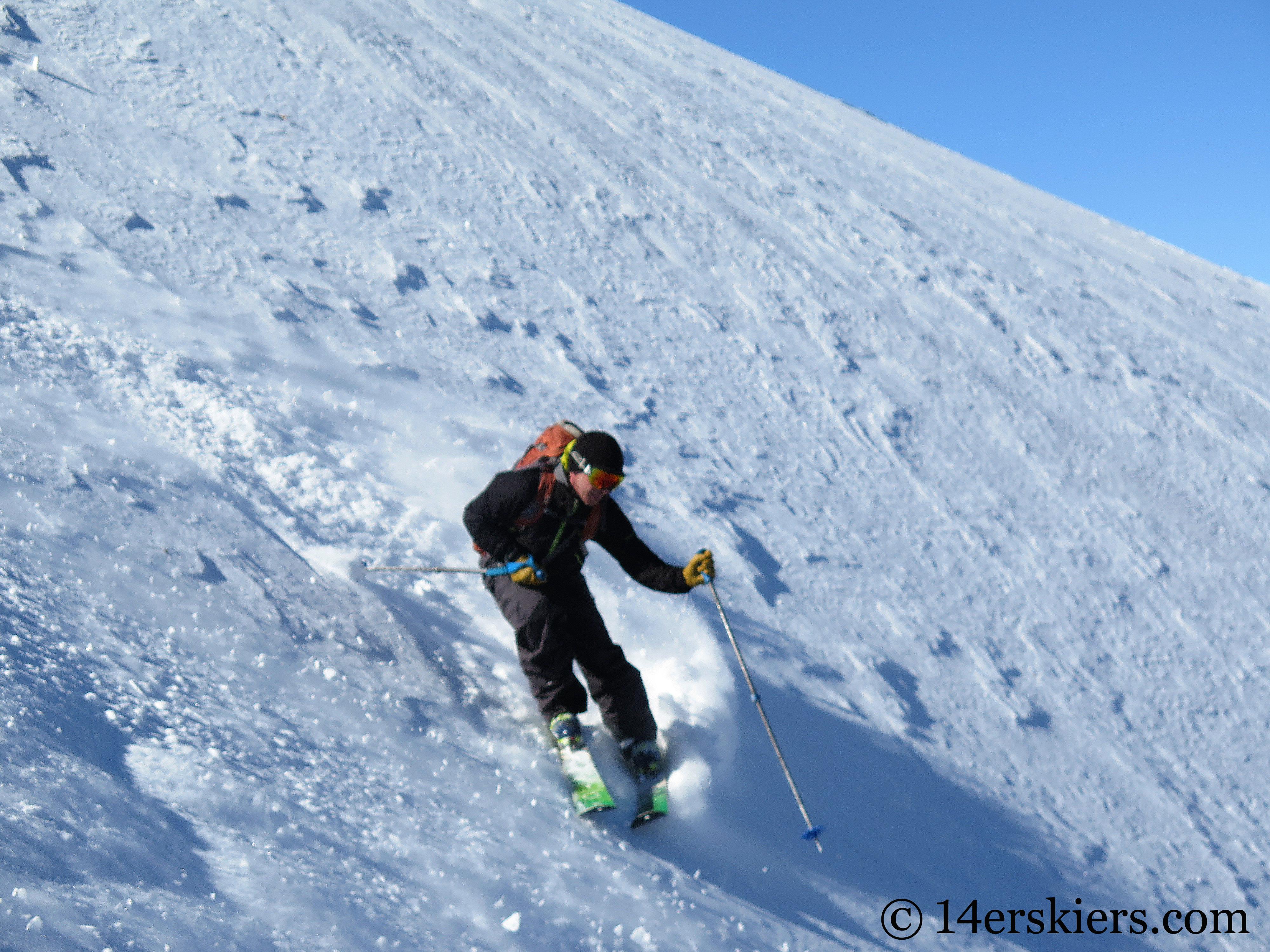 Skiing North & South Diamond Peaks