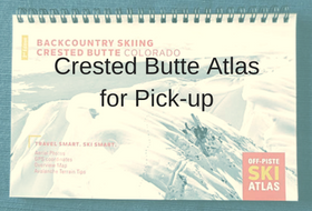 2016 Crested Butte Off-Piste Ski Atlas for pick-up