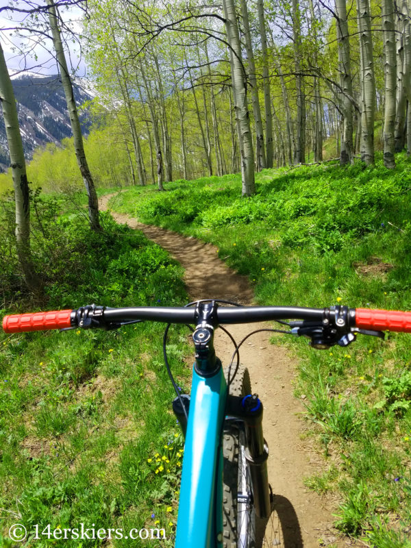 Lupine Trail - best early season mountain bike rides near Crested Butte.