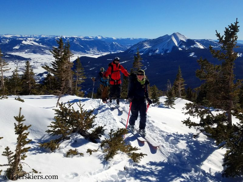 Backcountry skiing in Crested Butte.
