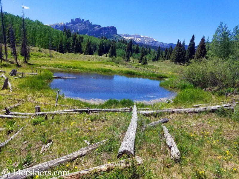 Mountain biking Lowline Trail near Crested Butte, CO