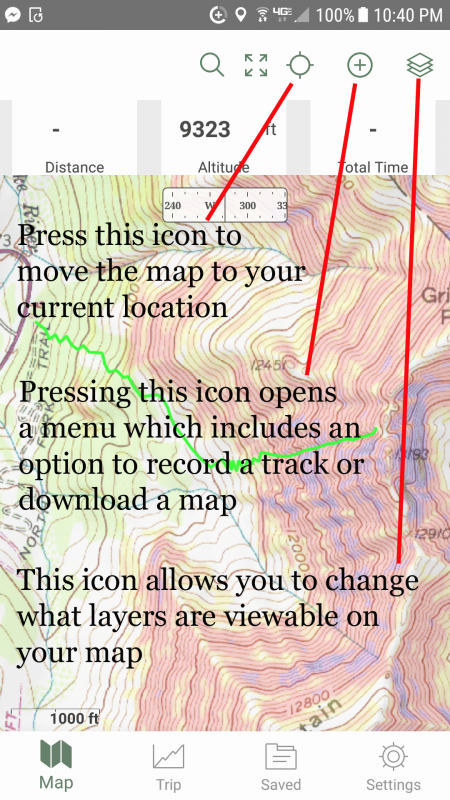 Using Gaia for backcountry skiing navigation