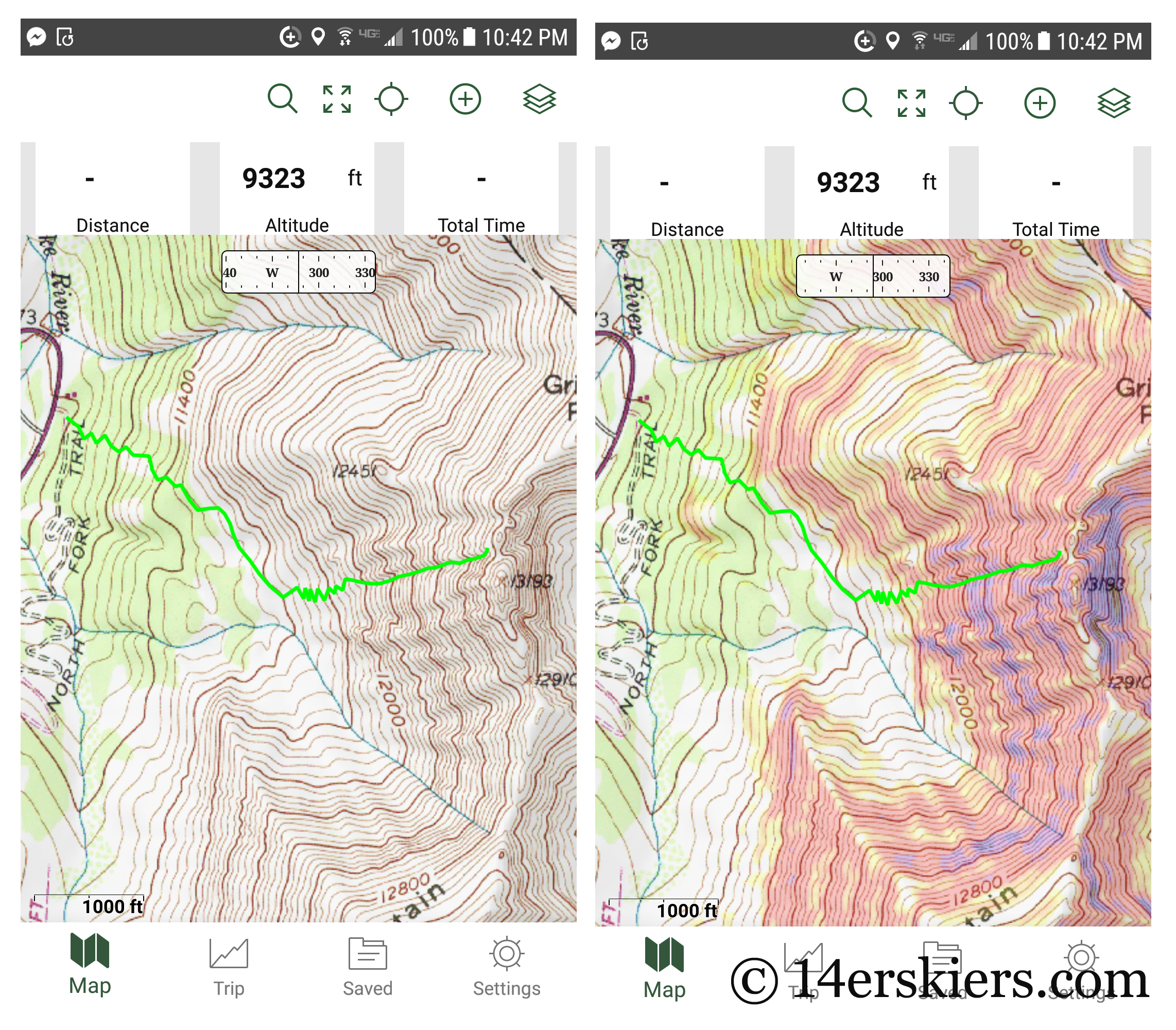 How to use CalTopo & the Gaia GPS App to Plan your Backcountry Skiing Routes - Updated