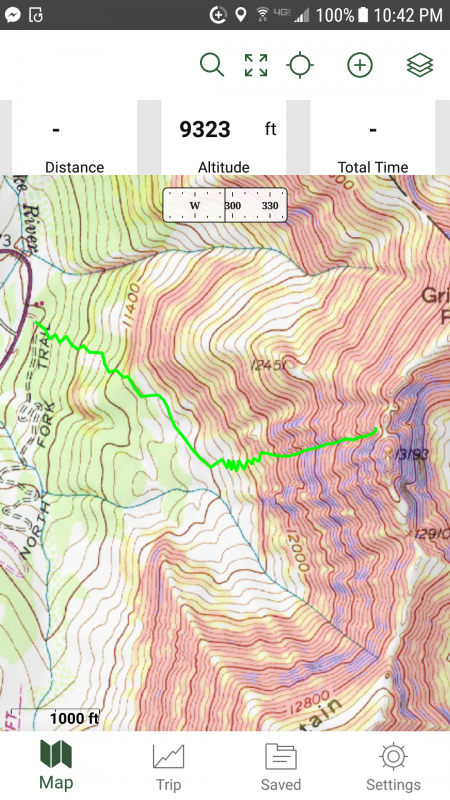Gaia GPS mobile app