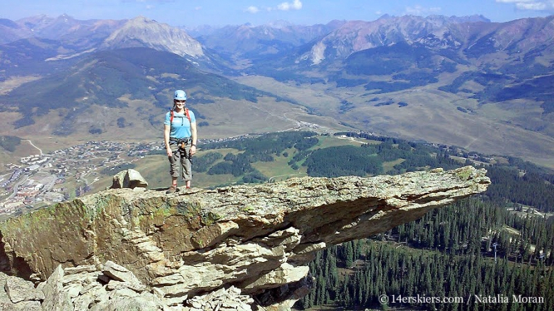 Climbing Guides Ridge on Mount Crested Butte