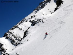 Eureka!  There's Snow in the Sangres.  Eureka Mountain NE Couloir 13,507'