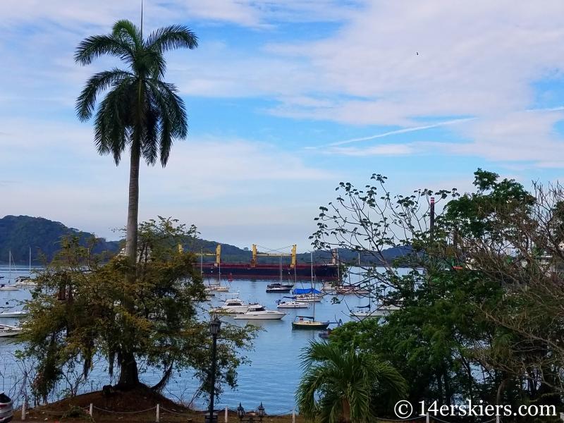 Visiting the Panama Canal.