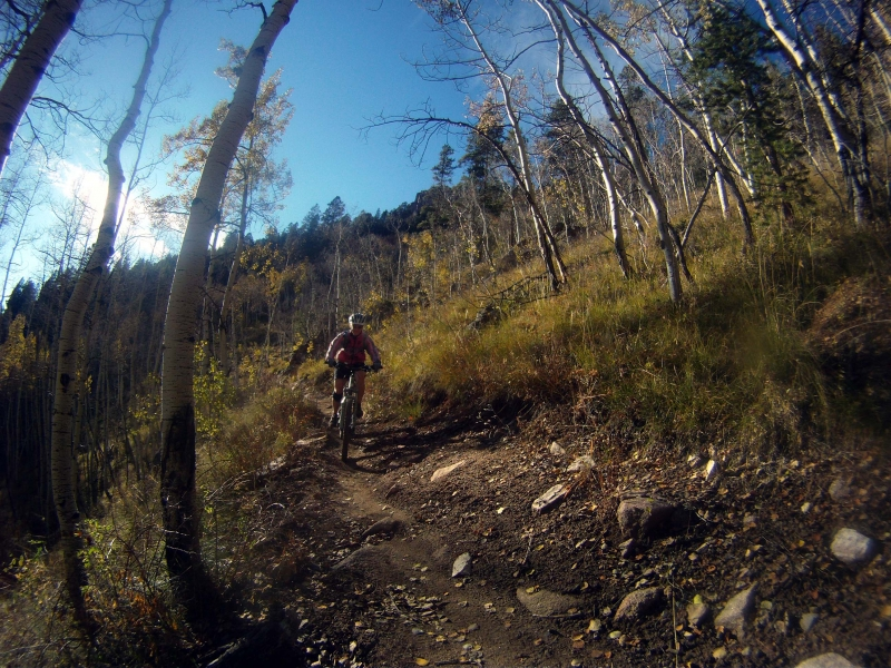 Mountain biking Doctor's Park in Crested Butte