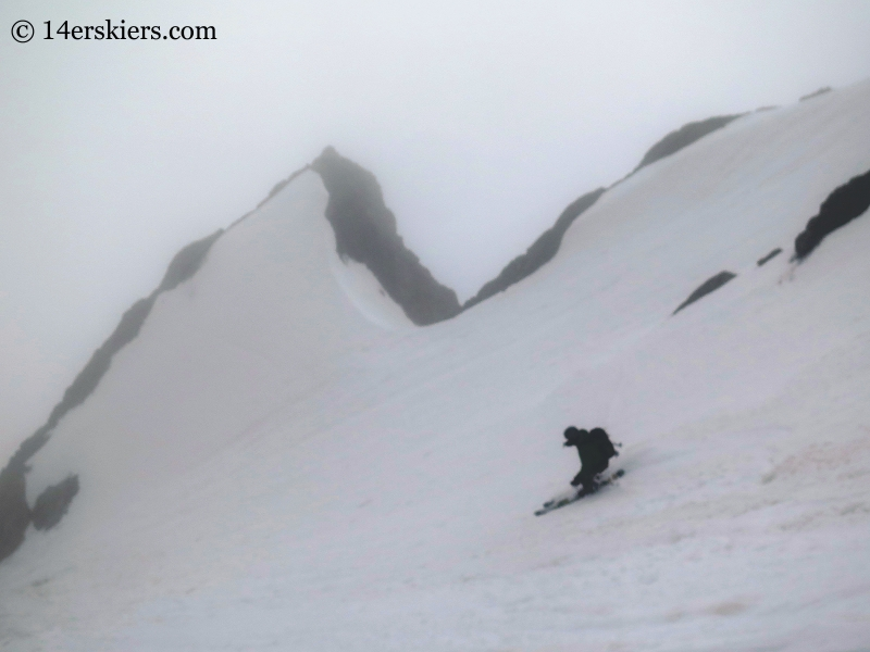 James Peak - Starlight Couloir Ski (11 June 2015)