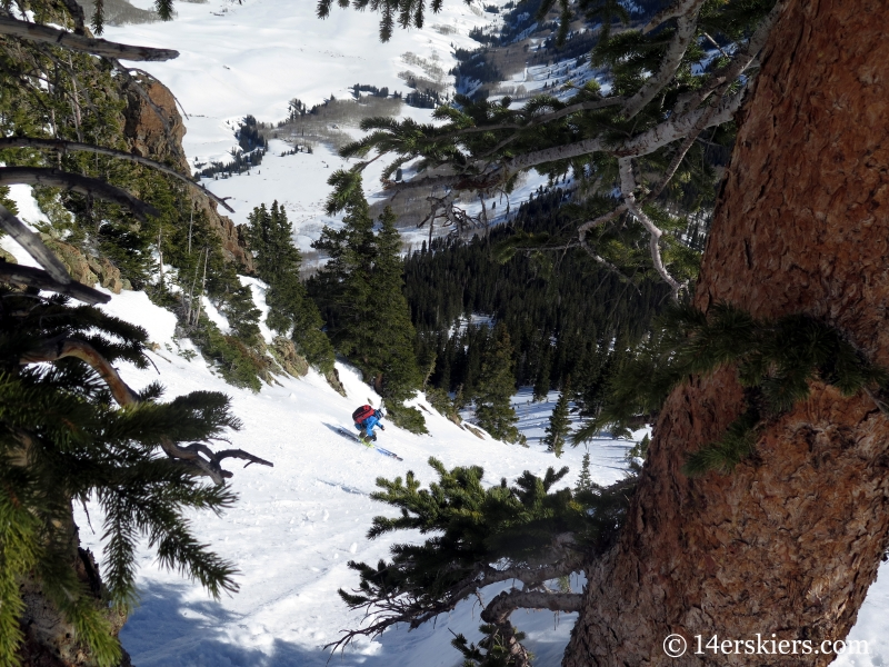 Skiing the Gothic Fork