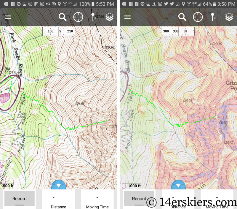How to use CalTopo & the Gaia GPS App to Plan your Backcountry Skiing Routes