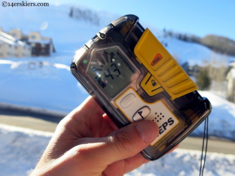 Pieps DSP Pro beacon for backcountry skiing